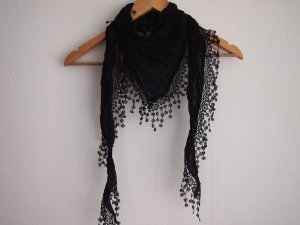Fringed Scarf black cotton