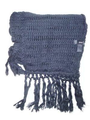 Schwarzer Schal gestrickt Marke ZERO