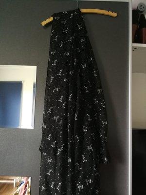 Schwarzer Schal mit Schleifen