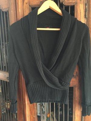 Schwarzer Schalkragenpullover von Esprit