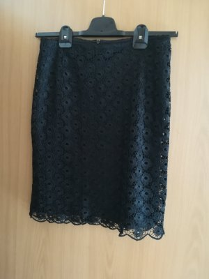 s.Oliver Lace Skirt black polyester