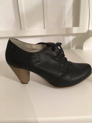 Schwarzer Schuh/ Schnür-Pumps Gr.38