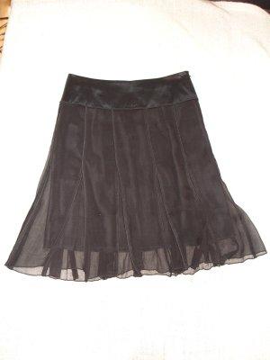 Renato Nucci Silk Skirt black silk