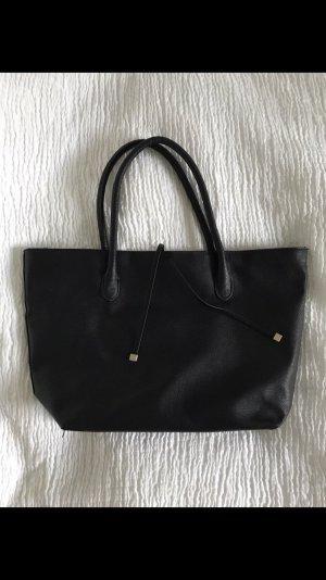 H&M Shopper zwart-goud