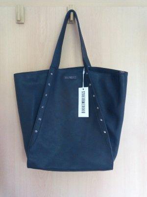 Bikkembergs Shopper black leather