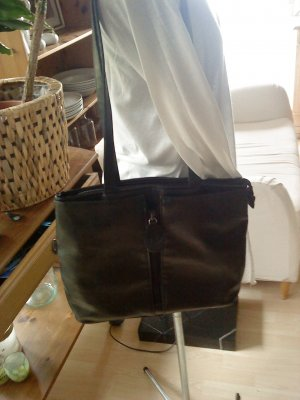 simona fashion Carry Bag black imitation leather