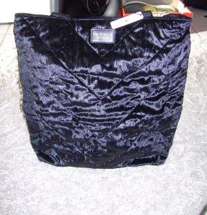 schwarzer Shopper von Victoria's Secret aus Samt große Handtasche