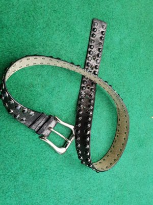 Guess Belt black-silver-colored