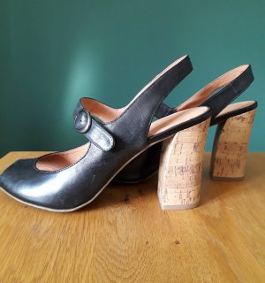 5th Avenue Slingback Pumps black-light brown leather