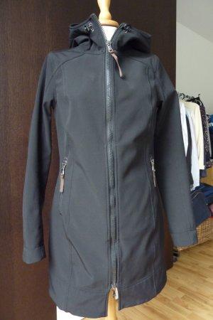 Schwarzer Softshell Mantel von Hoods by Adenauer & Co