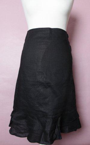 Schwarzer Sommerrock mit Volants NEU von H&M