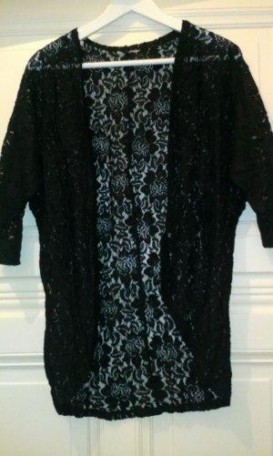 Schwarzer Spitzen-Cardigan von H&M