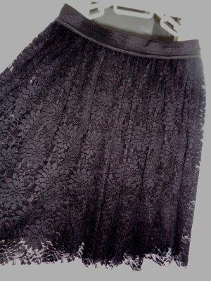 Lace Skirt black textile fiber