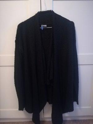 schwarzer Strick-Cardigan