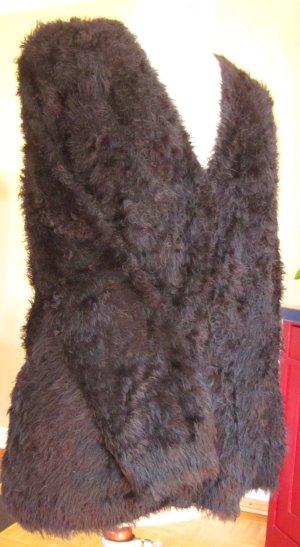 schwarzer Strick-Cardigan mit flauschiger Oberfläche von Oui