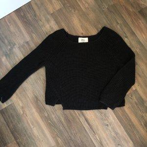 Schwarzer Strick Pullover
