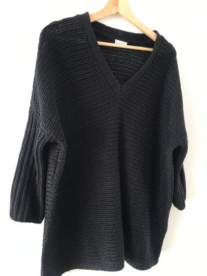 Noisy May Coarse Knitted Sweater black
