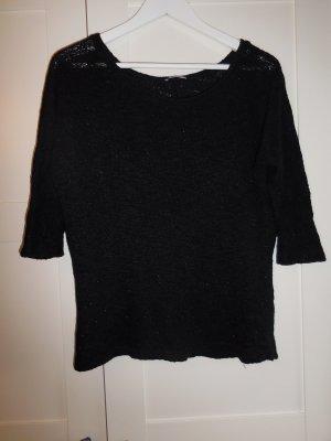 schwarzer Strickpullover mit 3/4-Ärmeln von Orsay