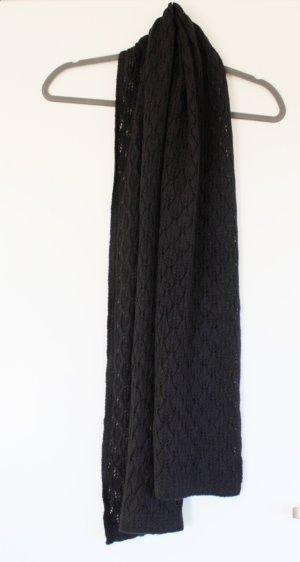 H&M Gebreide sjaal zwart