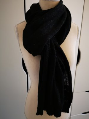 H&M Knitted Scarf black-silver-colored