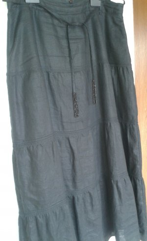 Canda Broomstick Skirt black linen