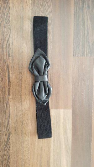 Schwarzer Taillen Gürtel mit Schleife