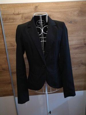 Schwarzer taillierter Blazer 34 xs