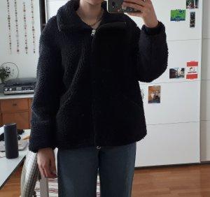 schwarzer Teddycoat