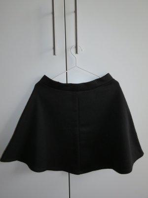 H&M Falda circular negro Poliéster
