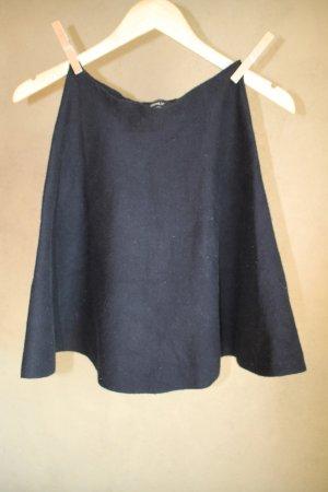 Only Falda circular negro tejido mezclado
