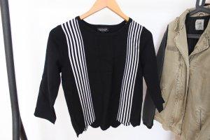 schwarzer Topshop Pullover mit Streifen