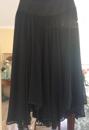 Zijden rok zwart