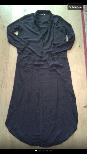 Schwarzer transparenter Mantel NEU