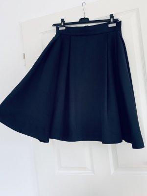 Uterqüe Skater Skirt black cotton
