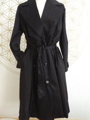 Trench Coat black cotton