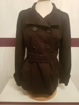 schwarzer Trenchcoat Kurzmantel Jacke von Zara Woman Gr. L