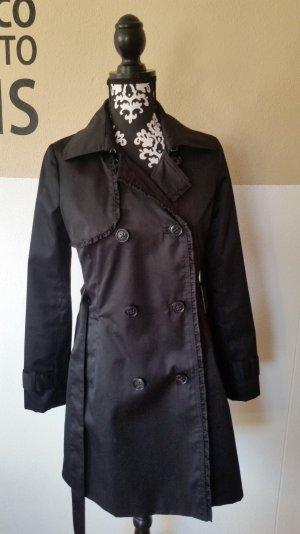 schwarzer Trenchcoat / Mantel