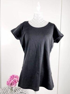 schwarzer tshirt gr M damen oberteil