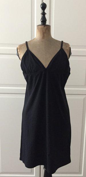 Schwarzer Unterrock aus weicher dünner Baumwolle mit 10% Elasthan