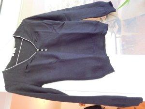 V-Neck Sweater black angora wool