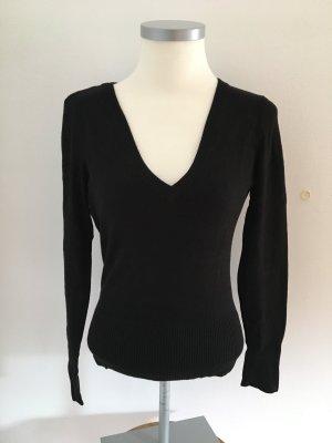 Schwarzer V-Ausschnitt-Pullover von Tally Weijl