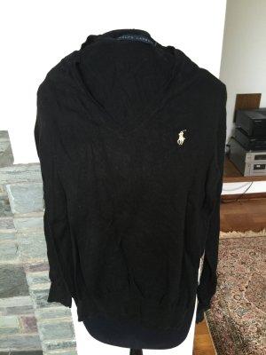 schwarzer V-Neck Pullover von Ralph Lauren aus den USA