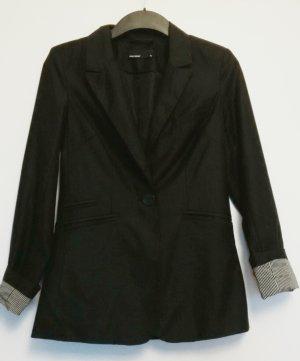 schwarzer Vero Moda Blazer Größe 36 mit leichtem Glanzeffekt