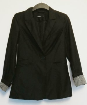 schwarzer Vero Moda Longblazer Größe 36 mit leichtem Glanzeffekt