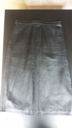 schwarzer Vintage Lederrock