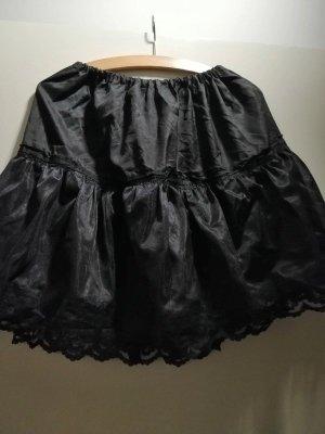Schwarzer Vintage Petticoat Rock / Grunge Rock