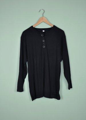 Schwarzer Vintage Pullover mit Vierecken und Strass