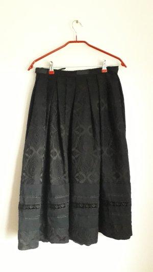 Vintage High Waist Skirt black