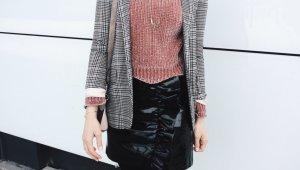 Vero Moda Leather Skirt black
