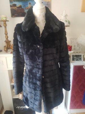 Orsay Cappotto in eco pelliccia nero Pelliccia